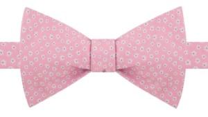 Tommy Hilfiger Men's Pre-Tied Mini-Floral Bow Tie