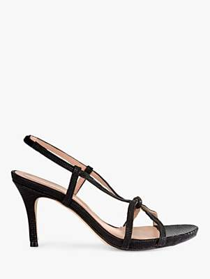 Mint Velvet Phillipa Leather Strappy Heeled Sandals, Black