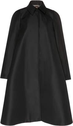 Rochas Duchess-Satin Coat Size: 42