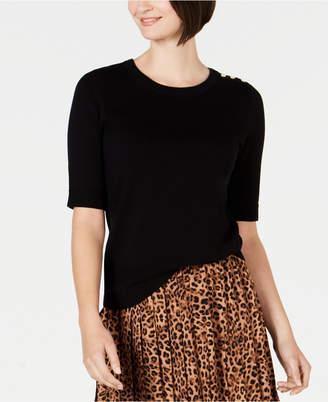 Charter Club Petite Elbow-Sleeve Sweater