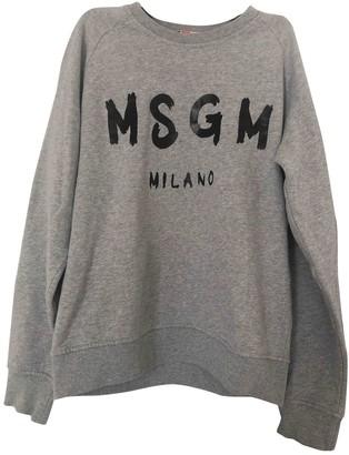 MSGM Grey Cotton Knitwear for Women