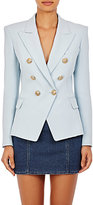 Balmain Women's Double-Breasted Blazer-BLUE