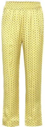 Asceno Printed silk pajama pants