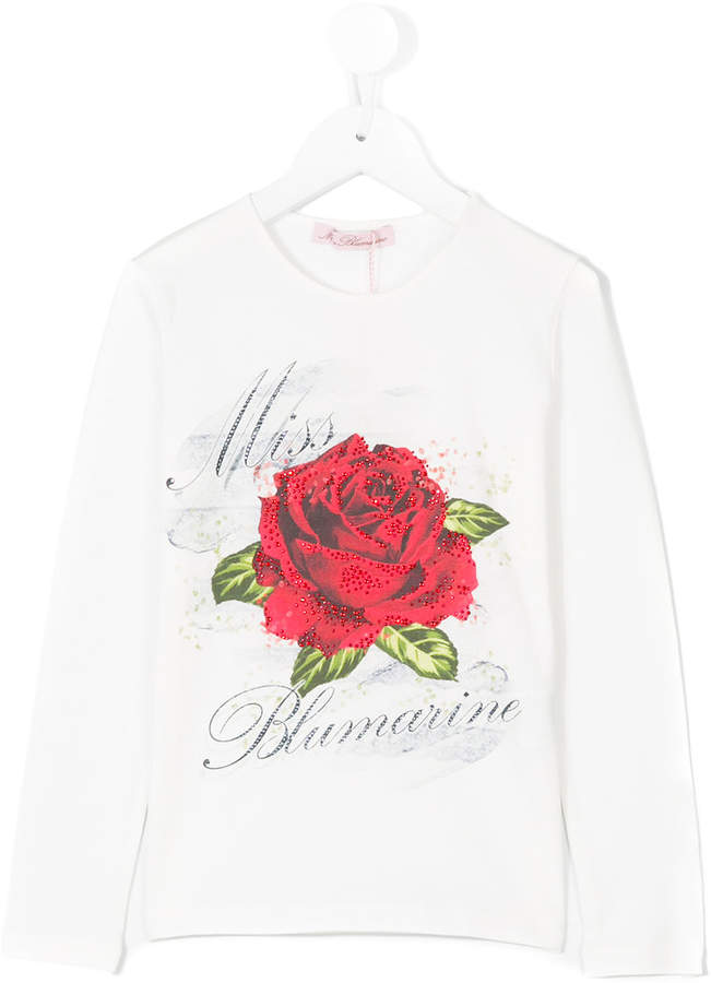 Miss Blumarine long sleeve printed T-shirt