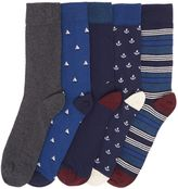 Howick 5 Pack Anchor Conversational Socks