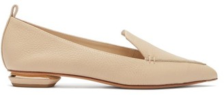 Nicholas Kirkwood Beya Grained-leather Loafers - Light Beige