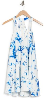 Lucy Paris Water Print Strappy Swing Dress