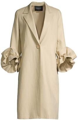 Lafayette 148 New York Emmie Ruffle-Sleeve Coat
