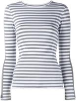 Natasha Zinko longsleeved detail striped T-shirt