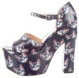 Markus Lupfer Cat Print Platform Sandals w/ Tags