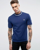 Fred Perry REISSUES T-Shirt Pique Tipped in Navy/White
