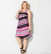 Avenue Pink Variegated Stripe Tank Dress