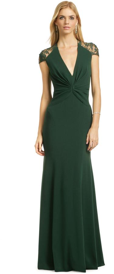 Reem Acra Jade Serenity Gown