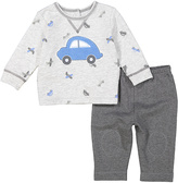 Vitamins Baby Gray Car Long-Sleeve Tee & Pants - Infant