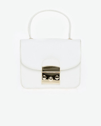 Le Château Faux Leather Bag with Crossbody Strap