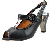 J. Renee Nevern W Peep-toe Patent Leather Slingback Heel.