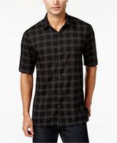 Alfani Men's Grid Print Short-Sleeve Shirt