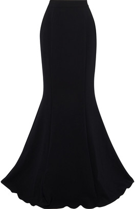 Marchesa Fluted Stretch-crepe Maxi Skirt