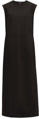 Raey High V-neck Double-layered Organza Shift Dress - Womens - Black