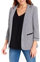 Wallis Ribbed Stripe Ponte Knit Jacket
