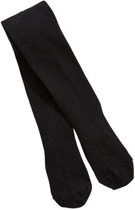 Very Girls 3 Pack Flat Knit School Tights - Black