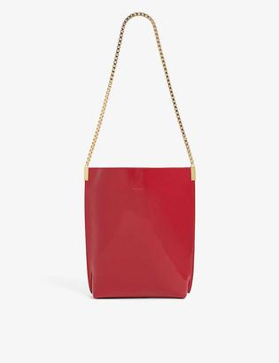 Saint Laurent Chain-strap small leather hobo bag