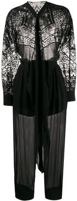 Emilio Pucci Vivara-embroidered jumpsuit