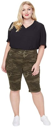NYDJ Plus Size Plus Size 13 Pull-On Shorts in Camo (Camo) Women's Shorts