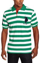 U.S. Polo Assn. Men's Medium-Stripe Pique Polo Shirt