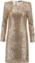 Maje Sequined Tulle Mini Dress