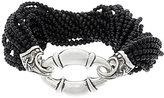 Scott Kay Sterling Silver Black Onyx Bead Bolo Torsade Bracelet