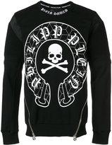 Philipp Plein zip detailed sweatshirt - men - Cotton/Polyester - M