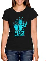 Awcloth Rick And Morty Peace Among Worlds Shirt For T-shirt Women L SQ