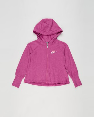 Nike Girl's Pink Hoodies - Essentials Jersey Jacket - Kids - Size 6 YRS at The Iconic