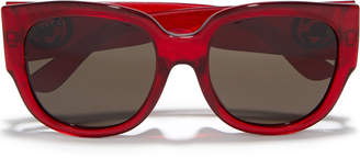 Gucci D-frame Glittered Acetate Sunglasses