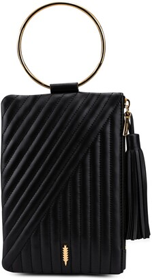 THACKER Nolita Quilted Leather Ring Handle Clutch