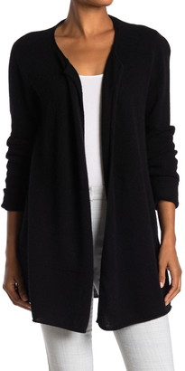 Magaschoni Drape Front Long Cashmere Cardigan