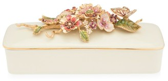 Jay Strongwater Brocade Floral Branch Box