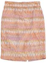J.Crew Collection Pink & Peach Pencil Skirt