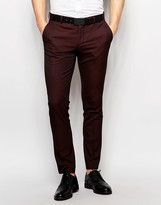 Selected Homme Skinny Luxe Polka Dot Suit Trousers
