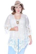 Grayson Shop Plus Size Floral Lace Cardigan
