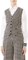 Gucci Houndstooth Fitted Vest