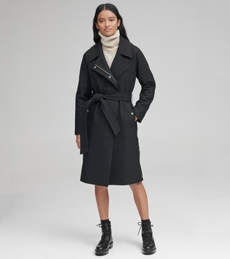 Andrew Marc Woodrow Wool Belted Coat