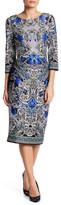 ECI 3/4 Length Sleeve Scuba Dress