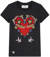 Philipp Plein Graphic T-shirt with rhinestones - Honey Lips