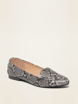 Old Navy Faux-Leather Pointy-Toe Loafers for Women