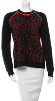 A.L.C. Leopard Crew Neck Sweater
