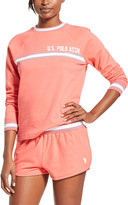 U.S. Polo Assn. Women's Sleep Bottoms sugar - Sugar Coral Stripe Graphic Pajama Set - Women