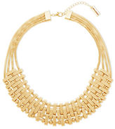 Steve Madden Multi-Layer Textured Bars Necklace