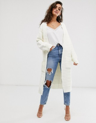 Asos Design DESIGN stitch detail maxi cardigan